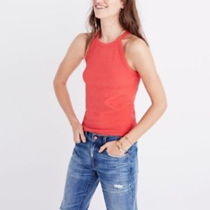 Madewell Timeoff Tank Top coral large